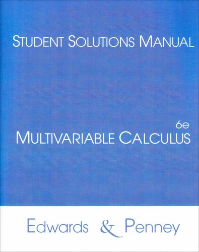 9780130620231: Student Solutions Manual for Multivariable Calculus