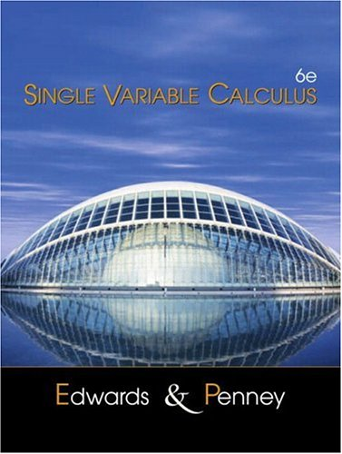 9780130620415: Single Variable Calculus (6th Edition)