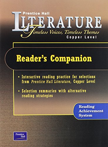 9780130623768: PRENTICE HALL LITERATURE TIMELESS VOICES TIMELESS THEMES 7TH EDITION READER'S COMPANION GRADE 6 2002C