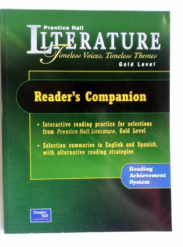 9780130623799: PRENTICE HALL LITERATURE TIMELESS VOICES TIMELESS THEMES 7TH EDITION    READER'S COMPANION GRADE 9 2002C