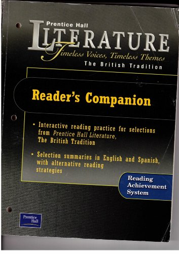 9780130623836: PRENTICE HALL LITERATURE TIMELESS VOICES TIMELESS THEMES 7TH EDITION READER'S COMPANION GRADE 12 2002C