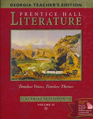 Georgia Teacher's Edition Prentice Hall Literature Volume II The American Experience: pearson