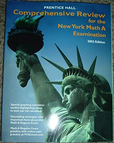 9780130625649: Comprehensive Review for Math A Examination