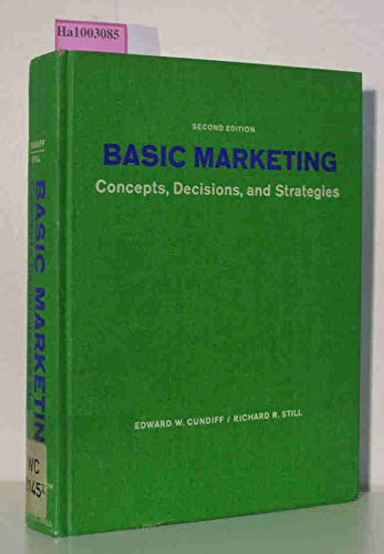 9780130626387: Basic Marketing: Concepts, Decisions and Strategies