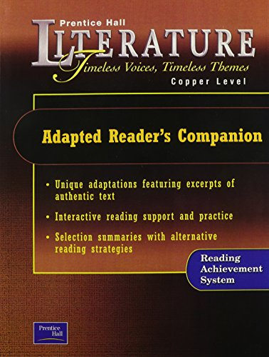9780130628329: Timeless Voices, Timeless Themes: Adapted Reader's Companion, Copper Edition (Prentice Hall Literature)