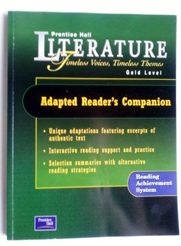 9780130628350: Adapted Reader's Companion: Gold Level
