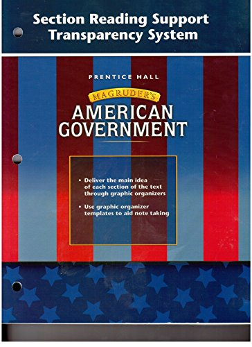 American Government: Magruder's (Section Reading Support Transparancy: Willian A. McClenagham