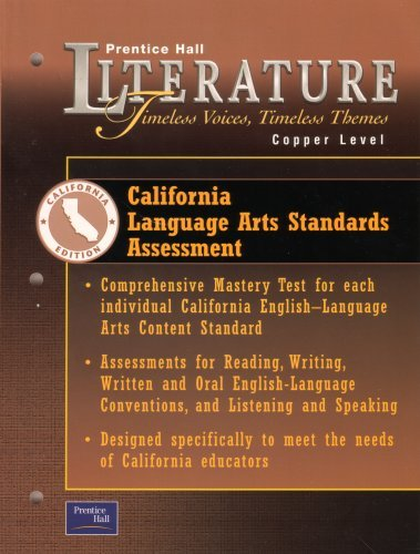 Prentice Hall Literature Timeless Voices Timeless Themes: Prentice Hall; Pearson