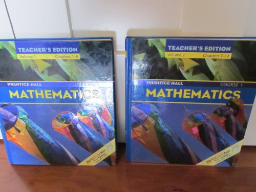 9780130631374: Prentice Hall Mathematics, Course 1: Volumes 1 & 2 (Teacher's Edition)
