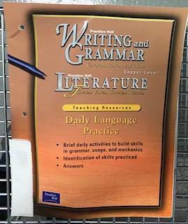 Daily Language Practice Copper Level Teacher Resources: Prentice Hall