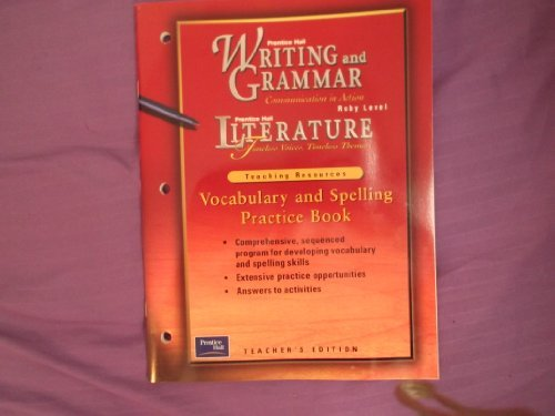 Writing and Grammar, Communication in Action: Literature: none listed
