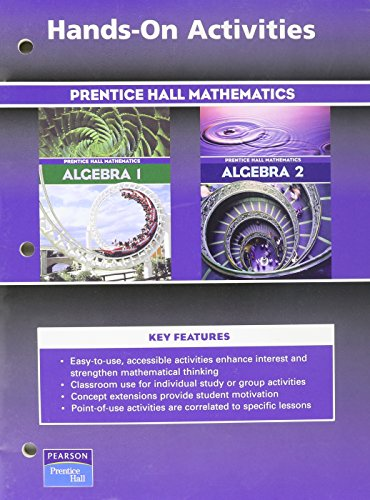 9780130633859: Hands on Activities: Algebra 1 / Algebra 2 (Prentice Hall Mathematics)