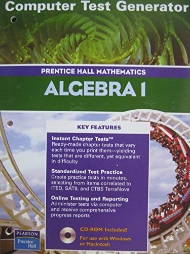 9780130633927: Algebra 1: Computer Test Generator (Prentice Hall Mathematics) (Book & CD-ROM)