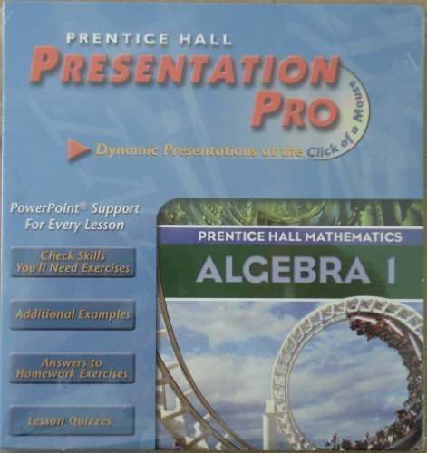 9780130633941: ALGEBRA 1 3RD EDITION PRESENTATION PRO CD-ROM 2004C