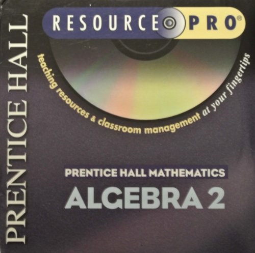 9780130634078: Resource Pro: Algebra 2 (Resource Pro: Teaching Resources and Classroom Management at your Fingertips)