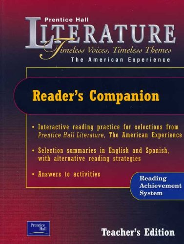 9780130636706: Reader's Companion: Ruby the American Experience (Prentice Hall Literature Timeless Voices Timeless Themes)