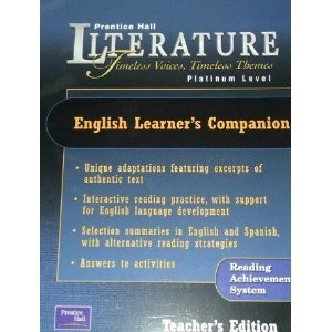 9780130636850: English Learners Companion: Platinum (Prentice Hall Literature Timeless Voices Timeless Themes)