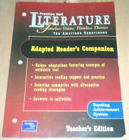 9780130636928: Adapted Readers Companion: Ruby the American Experience (Prentice Hall Literature Timeless Voices Timeless Themes)