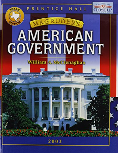 9780130637000: Magruder's American Government: Texas Edition