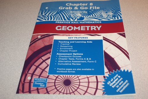 9780130638427: Geometry, Chapter 8 Grab & Go File: Similarity (Prentice Hall Mathematics)