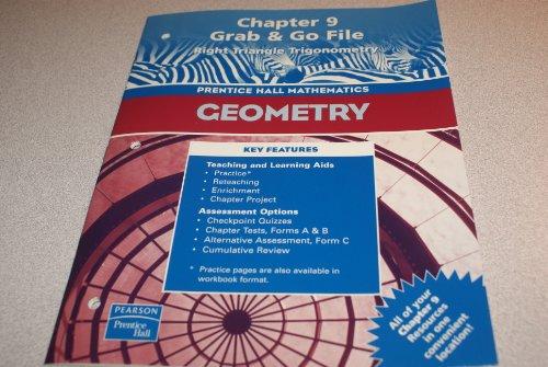 9780130638441: Geometry, Chapter 9 Grab & Go File: Right Triangle Trigonometry (Prentice Hall Mathematics)