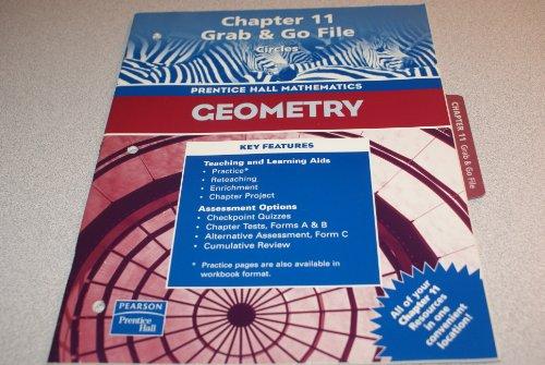 9780130638465: Geometry, Chapter 11 Grab & Go File: Circles (Prentice Hall Mathematics)