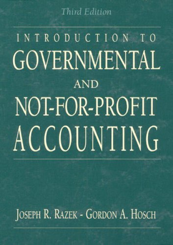 9780130642967: Introduction to Governmental and Not-for Profit Accounting