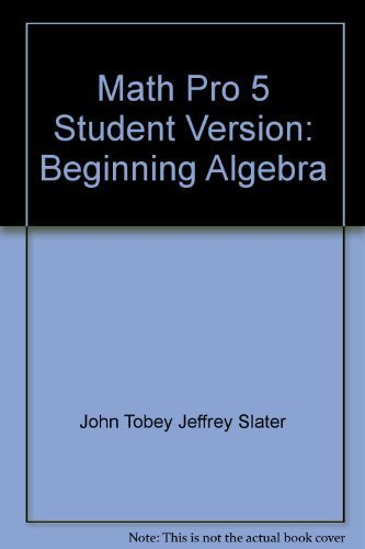 9780130645685: Math Pro 5 Student Version: Beginning Algebra