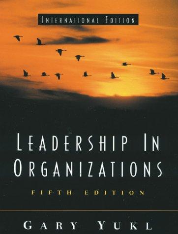 9780130647504: Leadership in Organizations (International Edition)