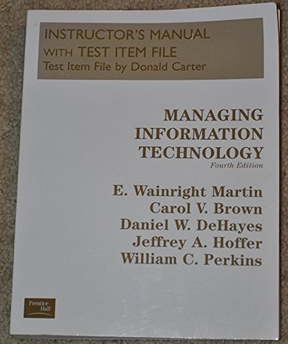 9780130647771: Instructors Manual with Test Item File