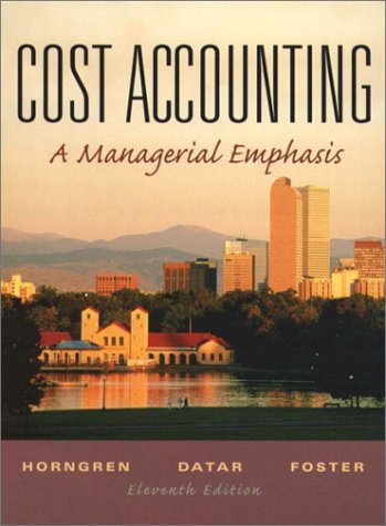 9780130648150: Cost Accounting: A Managerial Emphasis (Charles T Horngren Series in Accounting)