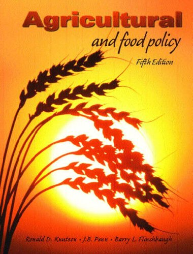 9780130648457: Agricultural and Food Policy