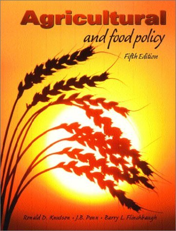 9780130648457: Agricultural and Food Policy, Fifth Edition