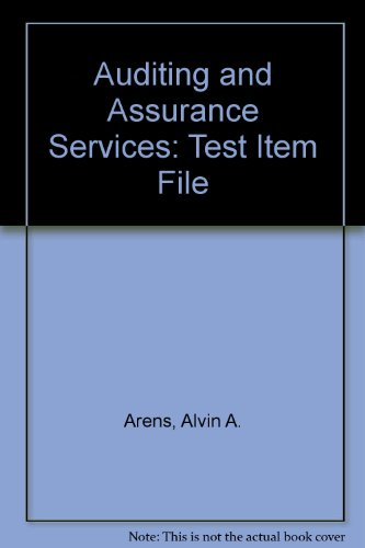 9780130650498: Auditing and Assurance Services: Test Item File