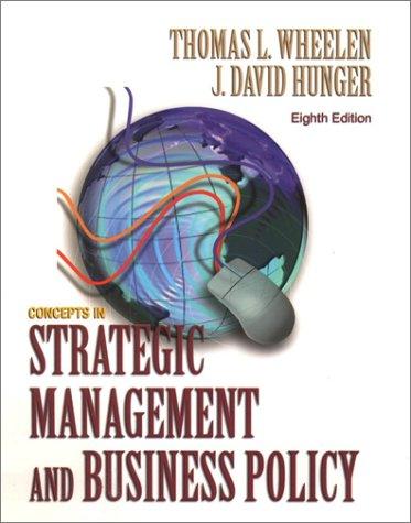 9780130651310: Concepts of Strategic Management