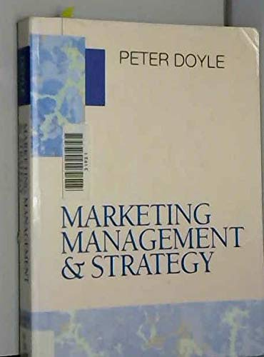 9780130653505: Marketing Management and Strategy