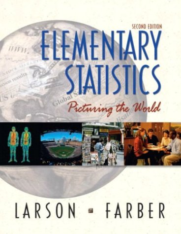 9780130655950: Elementary Statistics: Picturing the World (2nd Edition)