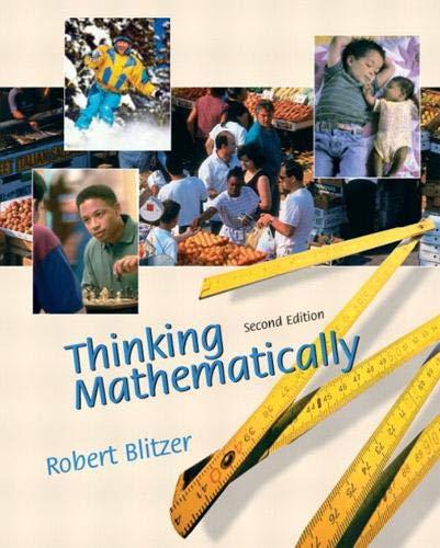 9780130656018: Thinking Mathematically (2nd Edition)