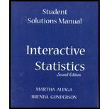 Student Solutions Manual for Interactive Statistics, 2nd: Brenda Gunderson, Martha