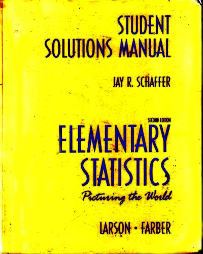9780130659415: Elementary Statistics: Picturing the World
