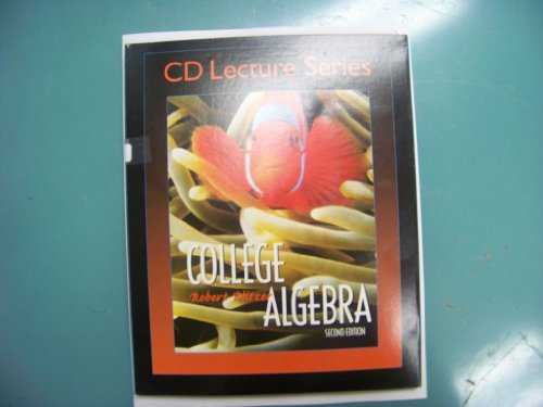 9780130660824: College Algebra - CD Lecture Series (16 CD Series)
