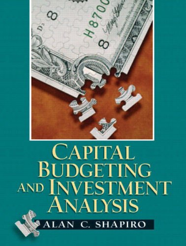 9780130660909: Capital Budgeting and Investment Analysis
