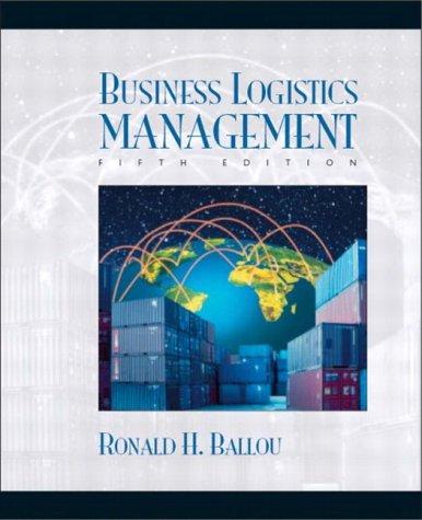 Business Logistics: Supply Chain Management