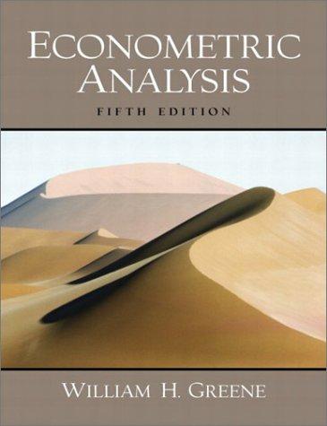 9780130661890: Econometric Analysis (5th Edition)