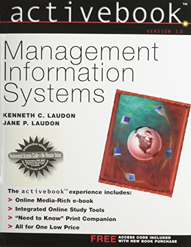 Management Information Systems Activebook: Laudon, Kenneth C.;