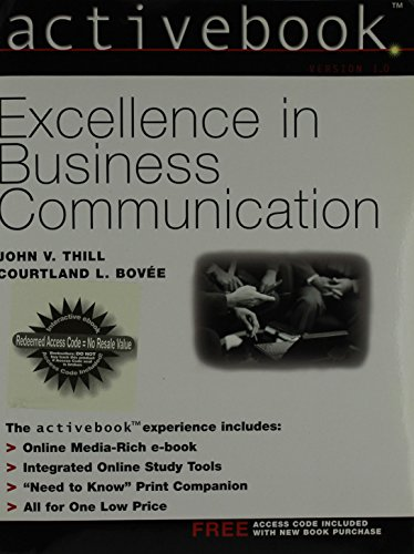 9780130663696: ActiveBook, Excellence in Business Communication (5th Edition)
