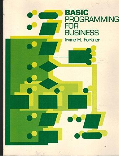 9780130664235: Basic Programming for Business