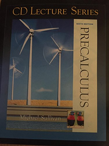 9780130664471: Cd Lecture Series, Precalculus Sixth Edition