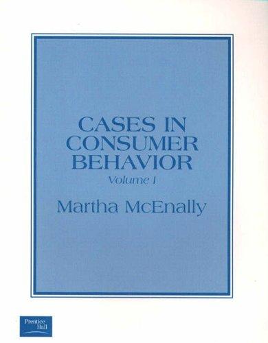 9780130665584: Cases in Consumer Behavior, Volume I