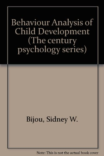 9780130667120: Behavior Analysis of Child Development (The Century psychology series)